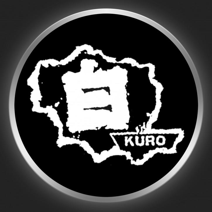 KURO - White Logo On Black Button
