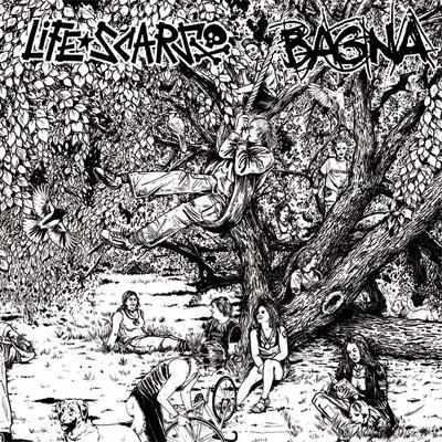 LIFE SCARS / BAGNA - Split LP
