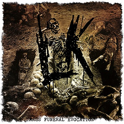 LIK - Mass Funeral Evocation LP (Bronze / Red Marbled)
