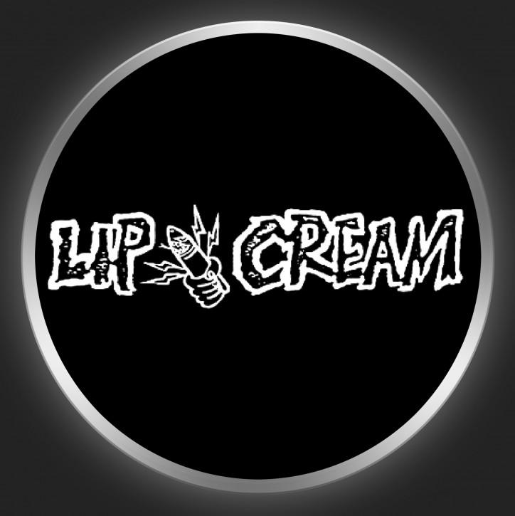 LIPCREAM - White Logo On Black Button