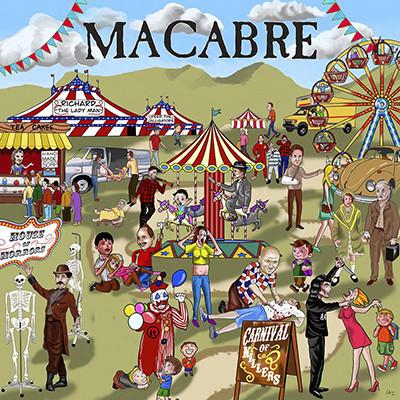 MACABRE - Carnival Of Killers LP (White / Red Splatter)