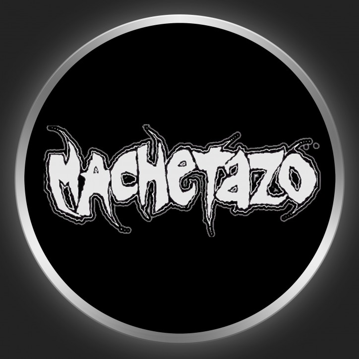 MACHETAZO - White Logo On Black Button
