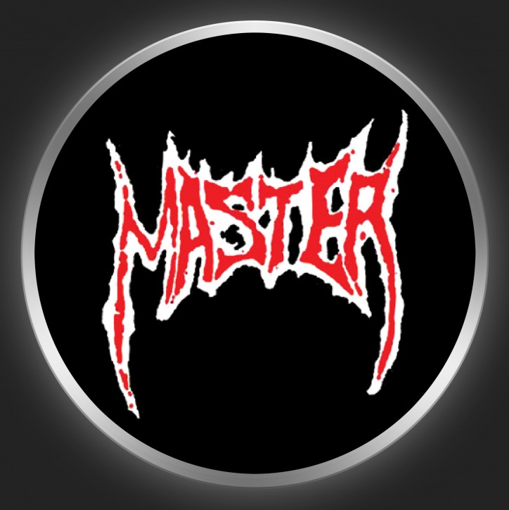 MASTER - Red Logo On Black Button