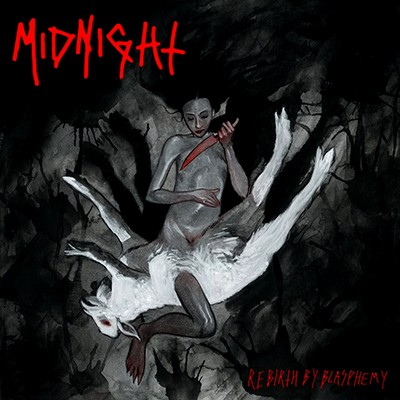 MIDNIGHT - Rebirth By Blasphemy LP (Red / Black Marbled)