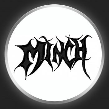 MINCH - Black Logo On White Button