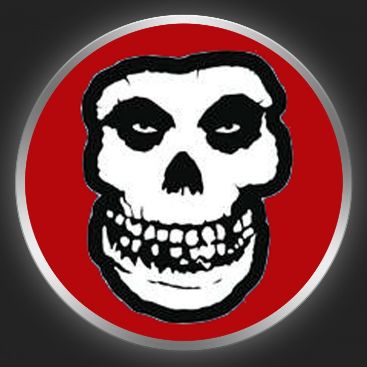 MISFITS - Skull On Red Button