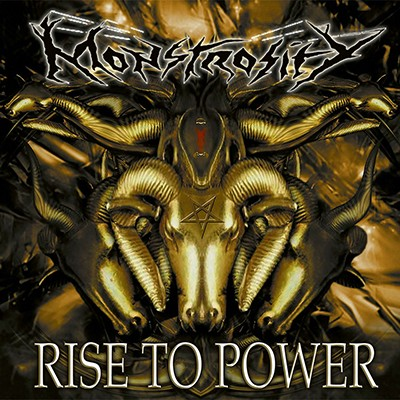 MONSTROSITY - Rise To Power LP (Yellow Ochre / Black Marbled)