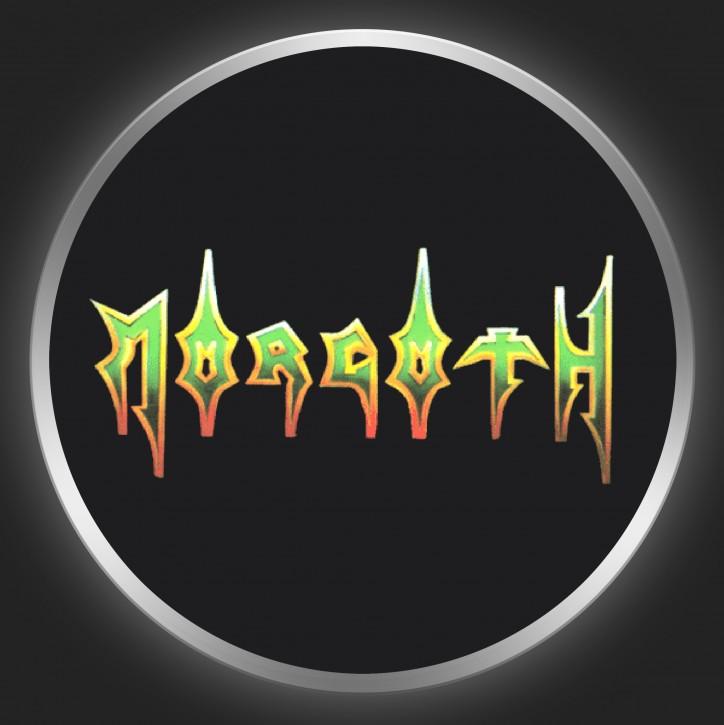 MORGOTH - Green Logo On Black Button