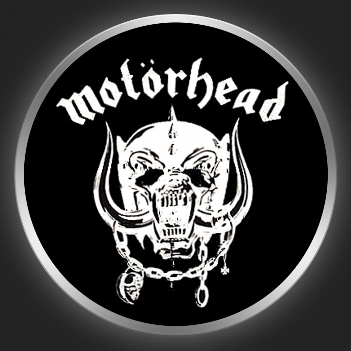 MOTÖRHEAD - White Logo On Black Button
