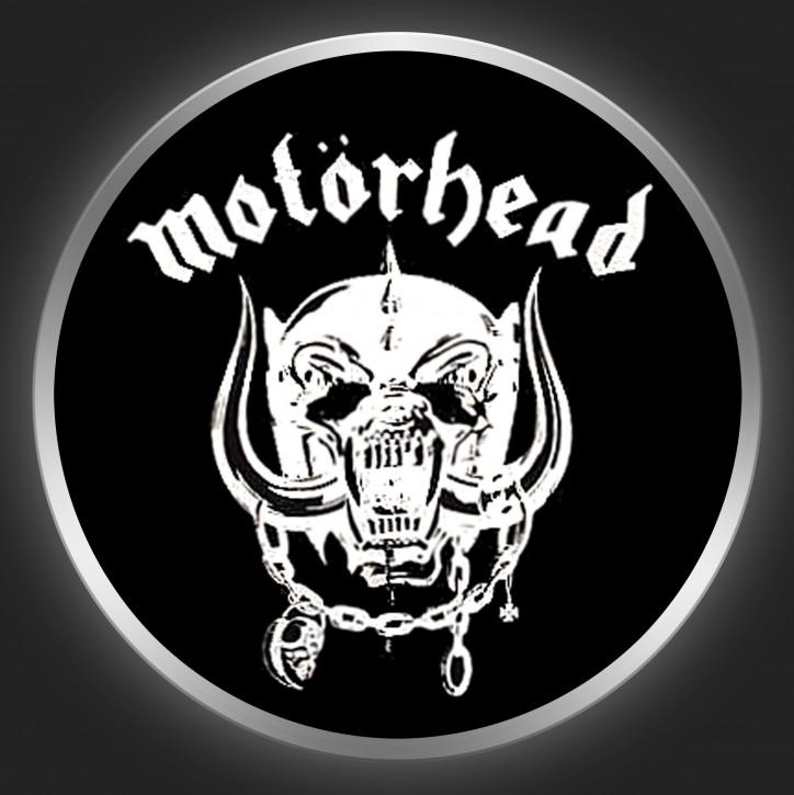 MOTÖRHEAD - White Logo On Black Button