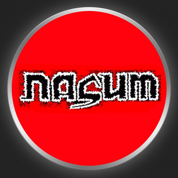 NASUM - Black Logo On Red Button