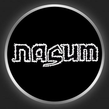 NASUM - Black / White Logo On Black Button