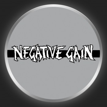 NEGATIVE GAIN - White Logo On Grey Button
