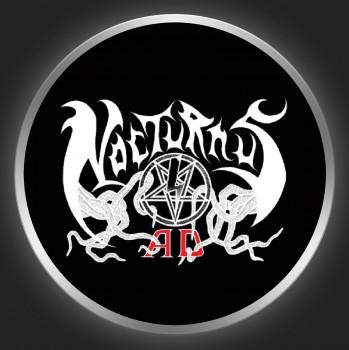 NOCTURNUS A.D. - White Logo On Black Button
