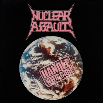 NUCLEAR ASSAULT - Handle With Care LP (Transparent Ultra Clear / Grey Splatter)