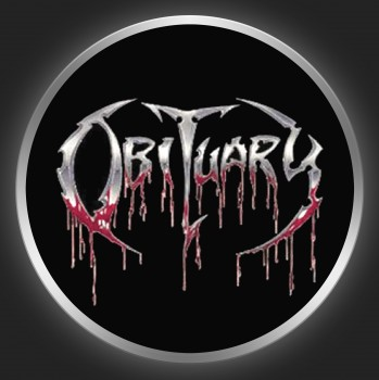 OBITUARY - Bloody Logo On Black Button