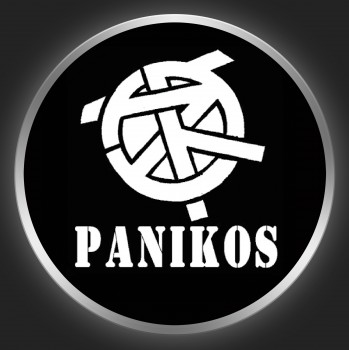 PANIKOS - White Logo On Black Button