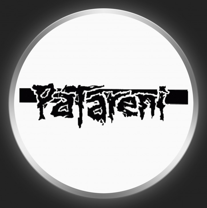 PATARENI - Black Logo On White Button
