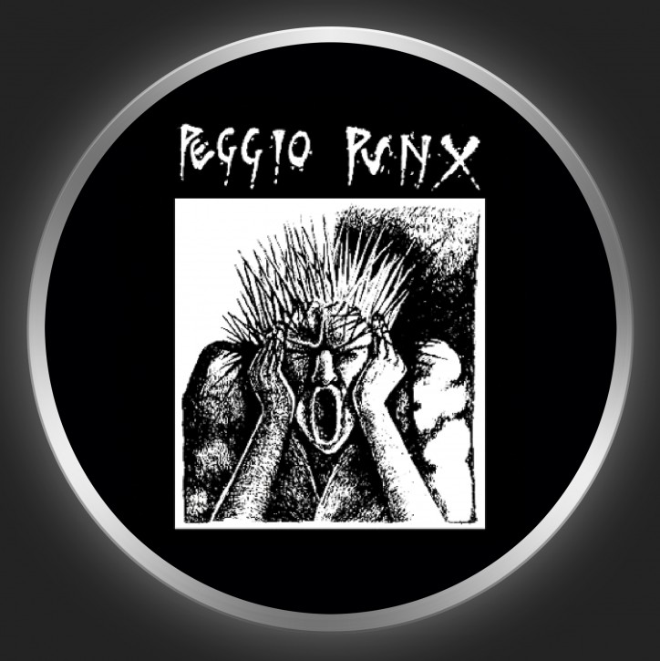PEGGIO PUNX - Screaming Punk Button