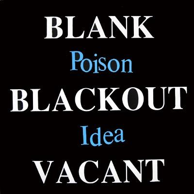 POISON IDEA - Black Blackout Vacant LP