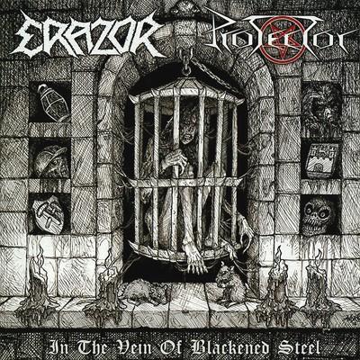 PROTECTOR / ERAZOR - Split EP (Blue / White)
