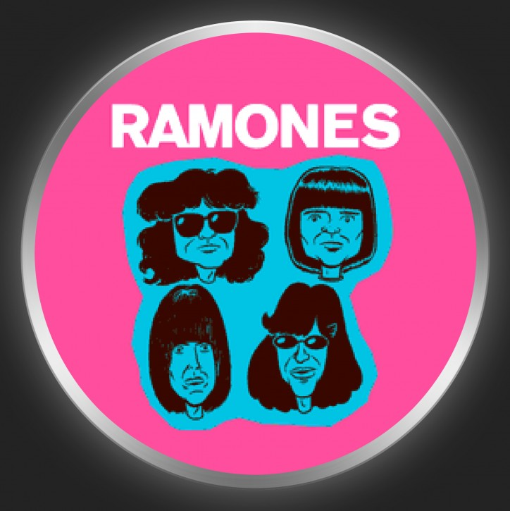 RAMONES - Comic Band 2 Button