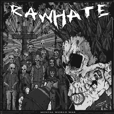 "RAW HATE / LIVET SOM INSATS - Split 10"""
