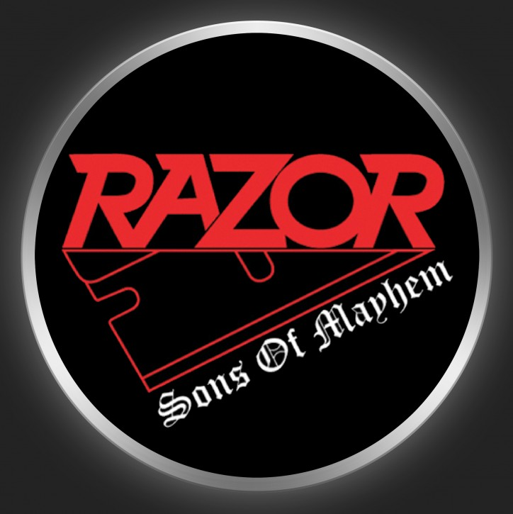 RAZOR - Sons Of Mayhem Button