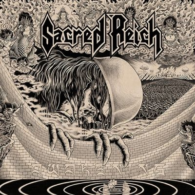 SACRED REICH - Awakening LP (Clear Red / Brown Marbled)