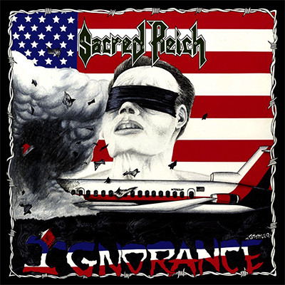 SACRED REICH - Ignorance LP (Grey Blue Marbled)
