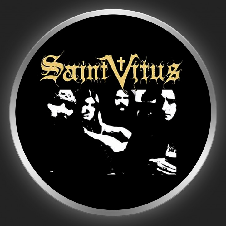 SAINT VITUS - Golden Logo + Band Photo Button