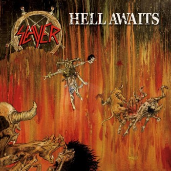 SLAYER - Hell Awaits LP (Olive Green Marbled)