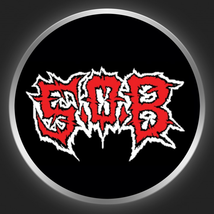 S.O.B. - Red Logo On Black Button
