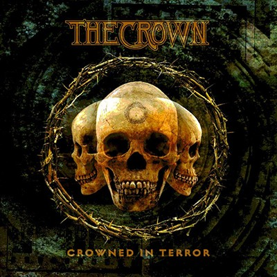 THE CROWN - Crowned In Terror LP (Clear Teal Marbled)