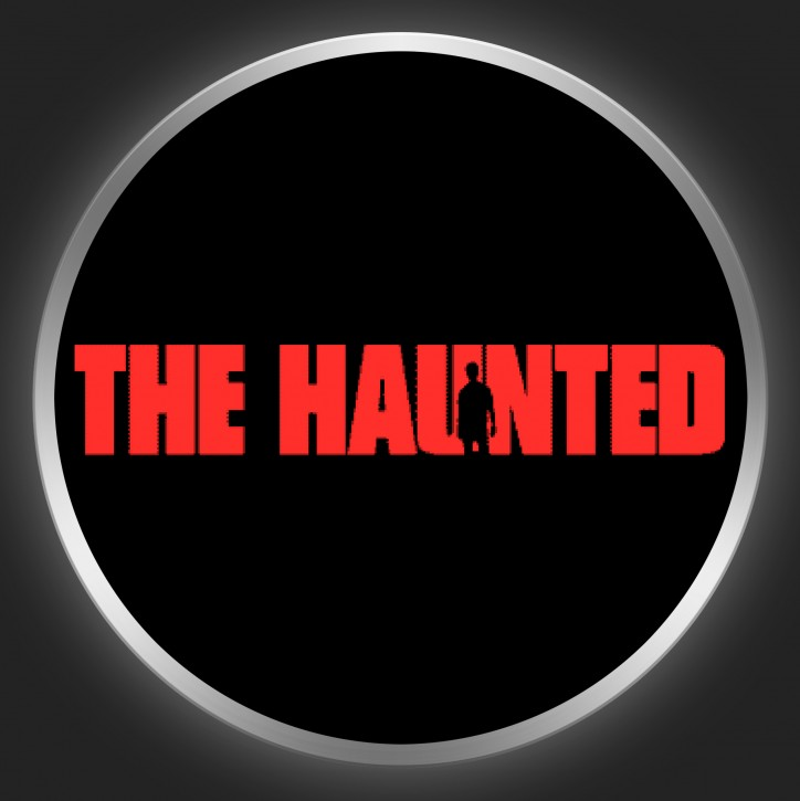 THE HAUNTED - Red Logo On Black Button