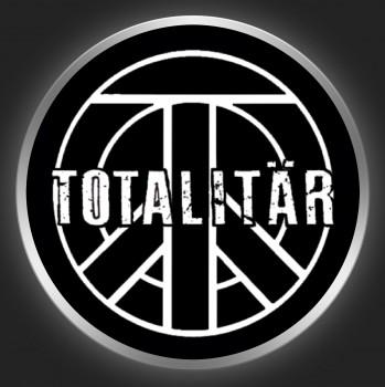 TOTALITÄR - White Logo On Black Button