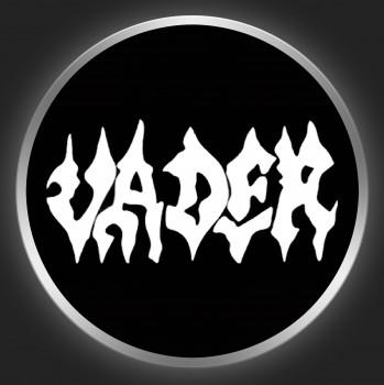 VADER - White Logo On Black Button