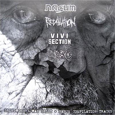 V.A. - Grindwork 4-Way Split + NASUM Compilation Tracks Comp. LP