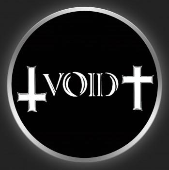 VOID - White Logo On Black Button