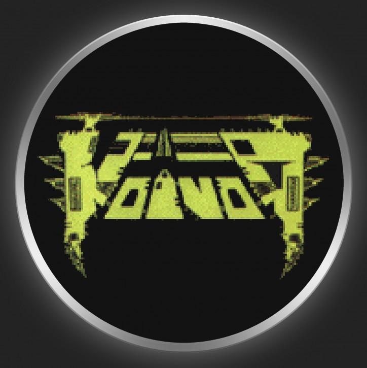 VOIVOD - Green Logo On Black Button