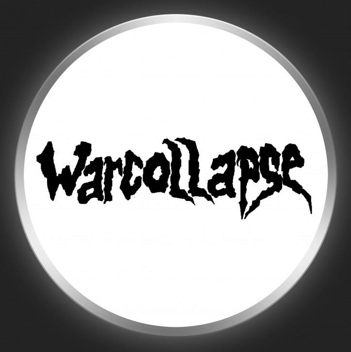 WARCOLLAPSE - Black Logo On White Button