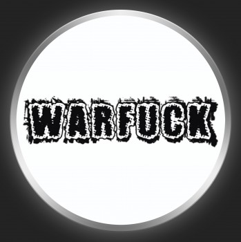 WARFUCK - Black Logo On White Button