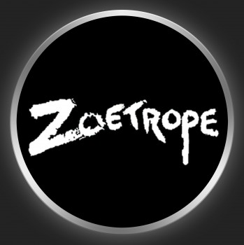ZOETROPE - White Logo On Black Button