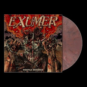 EXUMER - Hostile Defiance LP (Pale Blackberry Marbled)