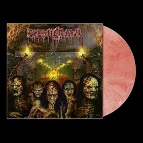 FLESHCRAWL - As Blood Rains From The Sky ... LP (Red / White Marbled)