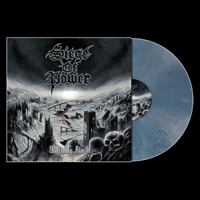 SIEGE OF POWER - Warning Blast LP (Slate Blue Marbled)