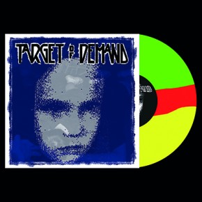 TARGET OF DEMAND / STAND TO FALL - Split LP (Three Colour Striped: Transparent Green / Red / Yellow)