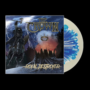 THE CROWN - Royal Destroyer LP (Golden Clear With Blue White Splattered Spot)